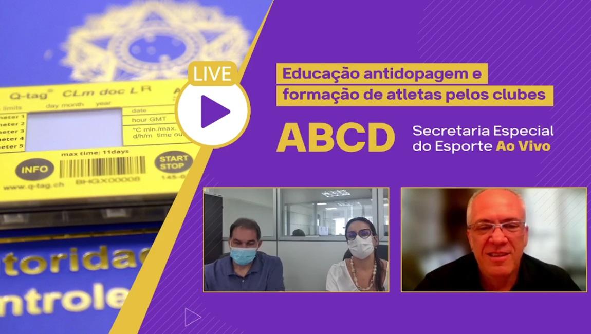 Participaram da conversa a secretária nacional da ABCD, Luisa Parente, e o gerente de Formalização de Projetos do Comitê Brasileiro de Clubes (CBC), Ricardo Avellar