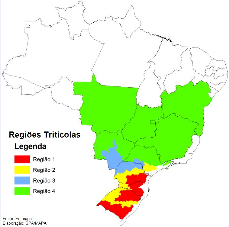 Regiões Tritícolas