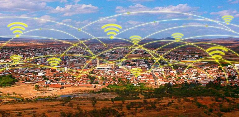 Localidade do interior provida de banda larga