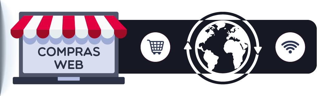 ícone representa a compra de celular online no exterior