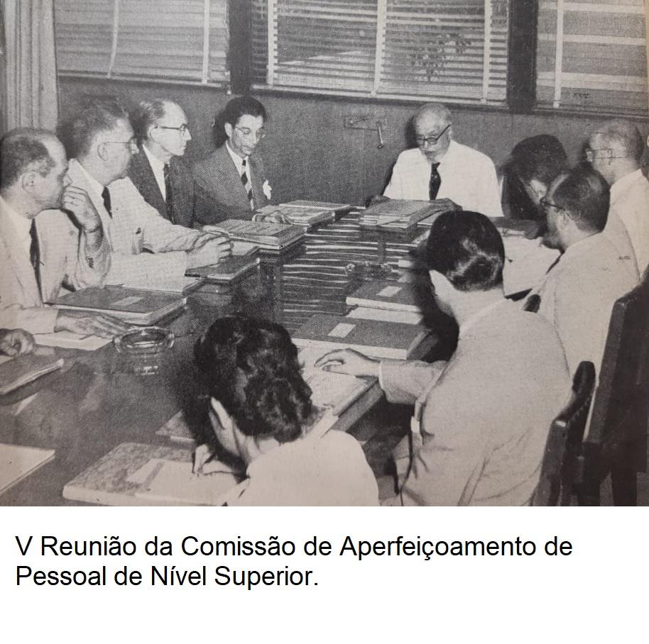 V Reunião da Comissão de Aperfeiçoamento de Pessoal de Nível Superior legenda