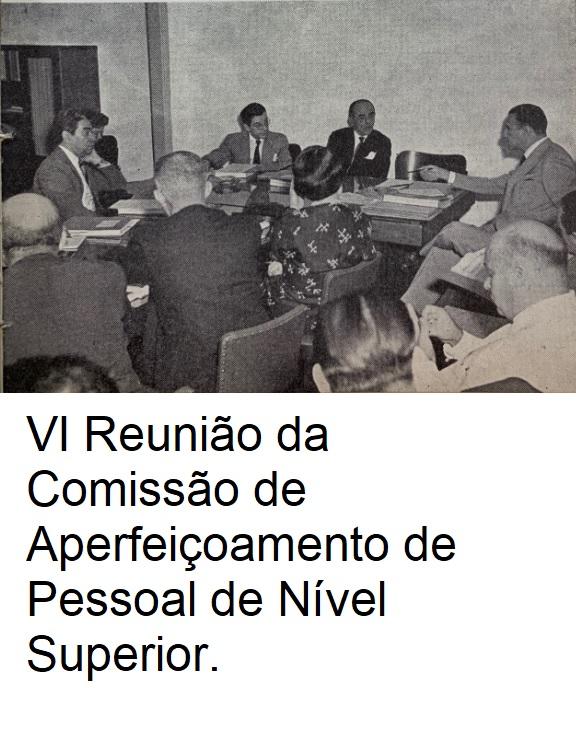VI Reunião da Comissão de Aperfeiçoamento de Pessoal de Nível Superior legenda
