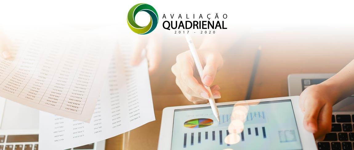 Imagem Institucional com a logo da Avaliação Quadrienal 2017 - 2020