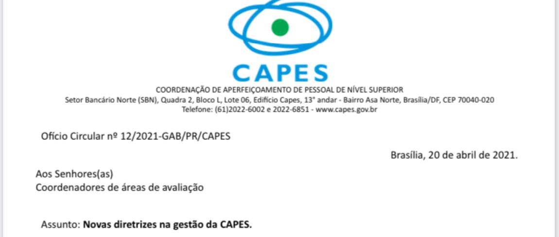 CAPES já cumpriu 3 dos 10 pontos de carta de intenções