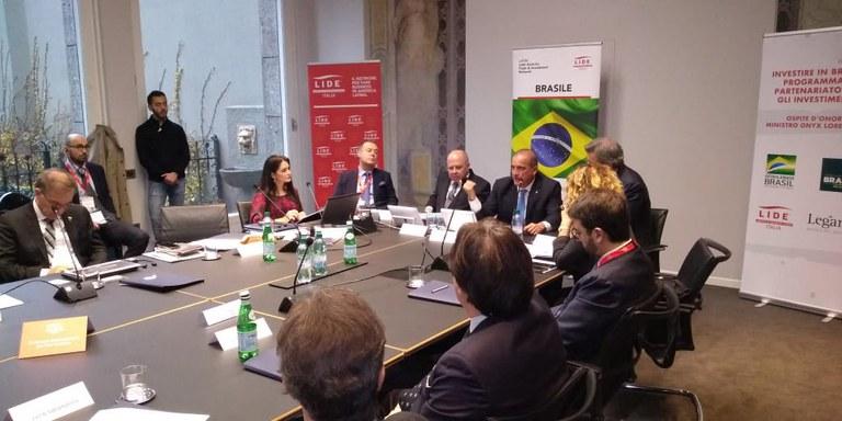 Investidores italianos conhecem o PPI no roadshow com Ministro Onyx