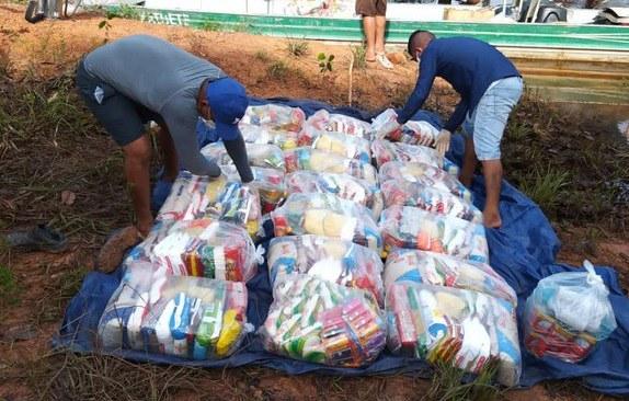 Funai alcança a marca de 700 mil cestas de alimentos distribuídas para populações indígenas