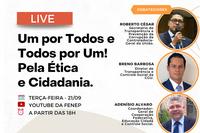 Live será transmitida no dia 21 de setembro, às 18h, pelo YouTube. Programa é parceria com Instituto Maurício de Sousa na área de Educação Cidadã