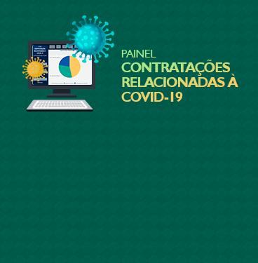 """Painel """"Contratações Relacionadas à Covid-19"""""""