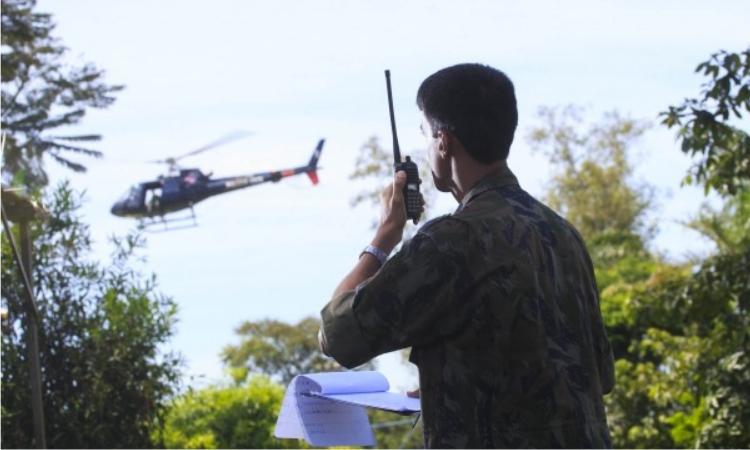 Estrutura montada para o gerenciamento do tráfego aéreo na região está sob a coordenação do1ºGrupo de Comunicações e Controle