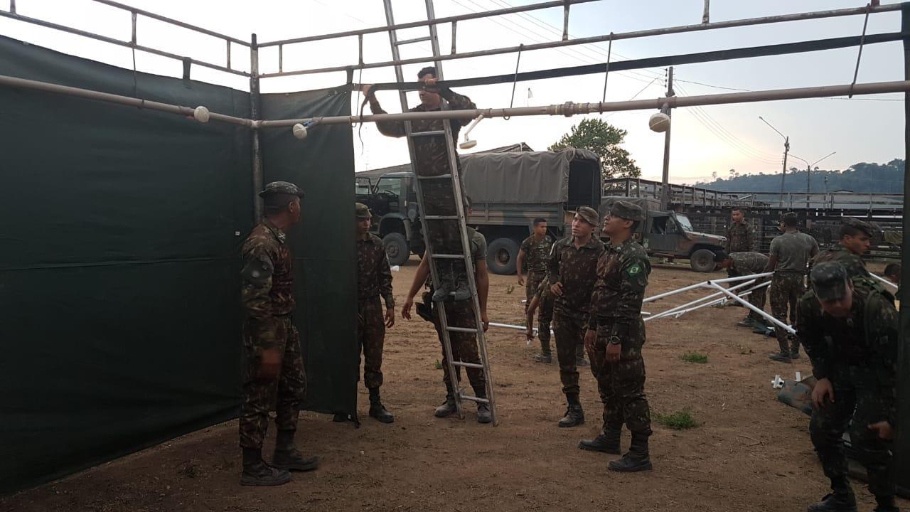 Base de Faz Tarumã possui cerca de 30 militares  Base de Faz Tarumã possui cerca de 30 militares