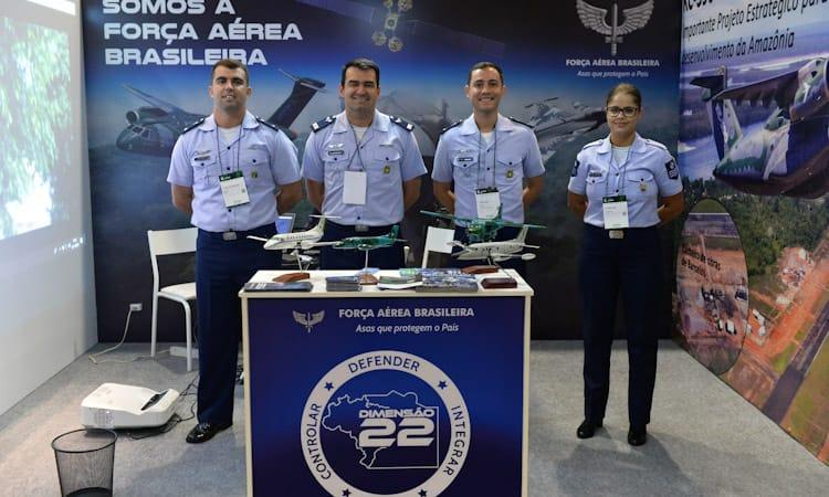 Estande da Força Aérea Brasileira