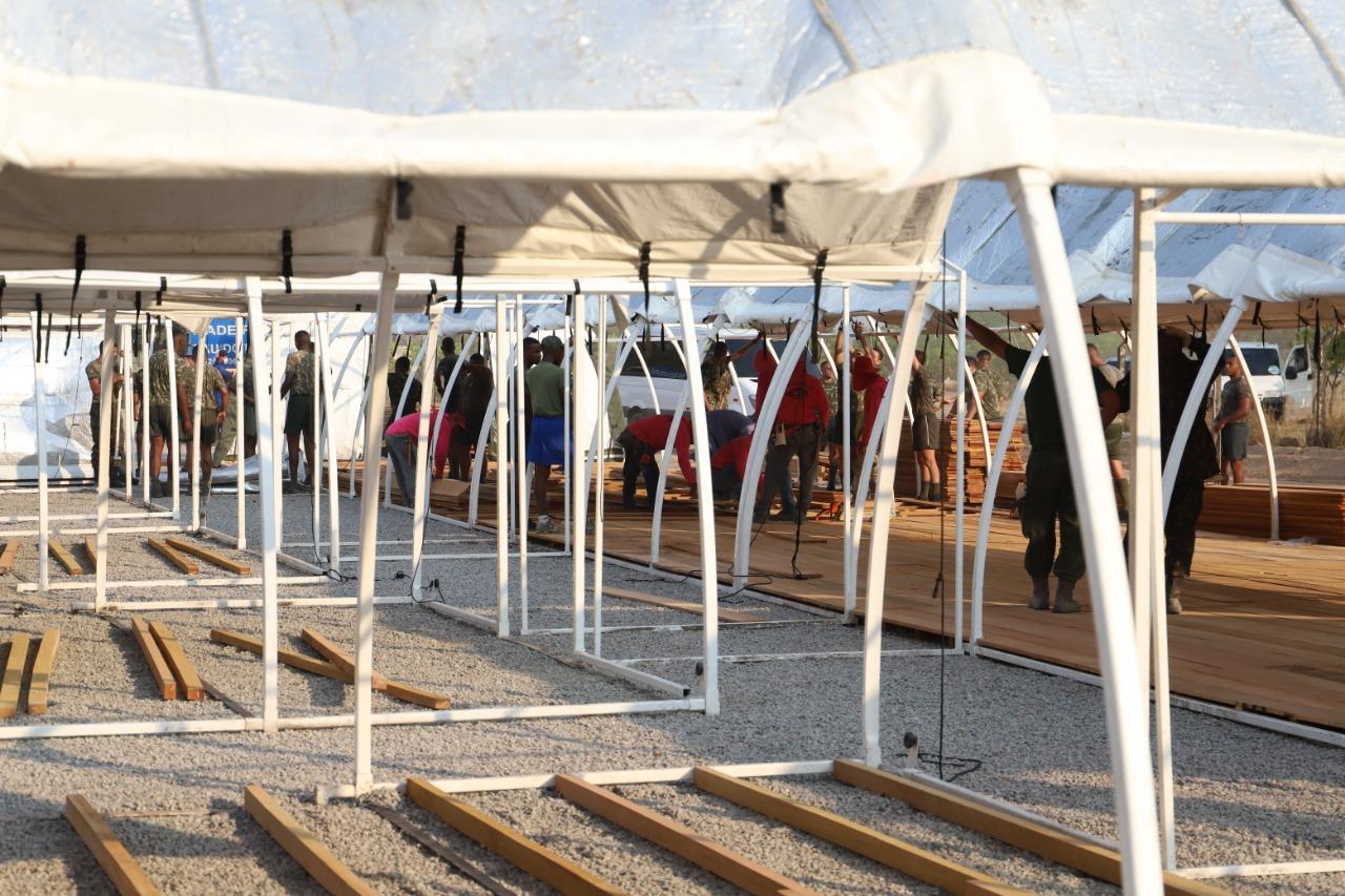 Hangar da Base Aérea de Santos está sendo transformado em Hospital de Campanha Civil (FAB)
