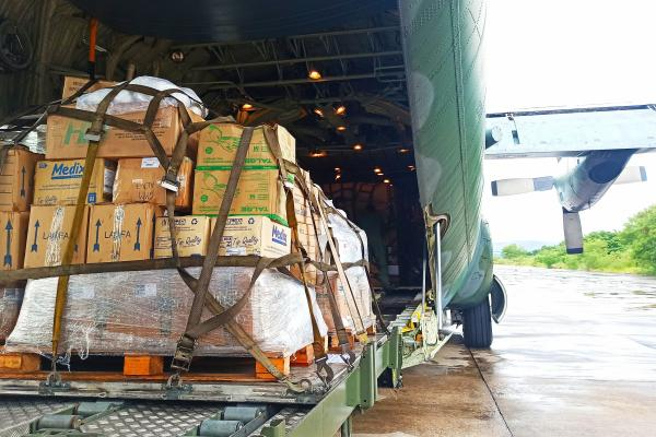 O transporte de itens de saúde foi uma ação interministerial em apoio ao Ministério da Saúde