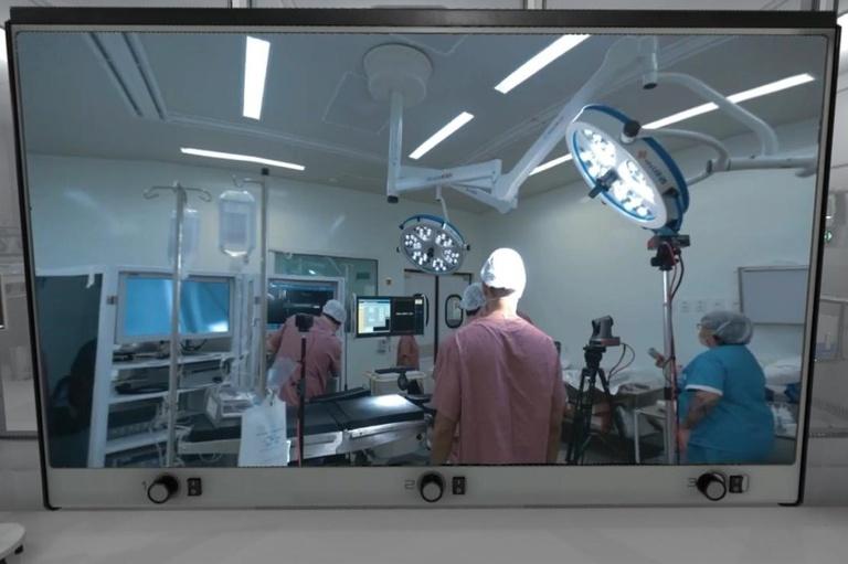 A técnica possibilita que profissionais da saúde acompanhem os procedimentos de vários ângulos, mesmo por vídeo