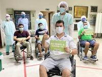 Momento foi marcado por muita emoção e não apenas dos pacientes, mas também dos profissionais do hospital.