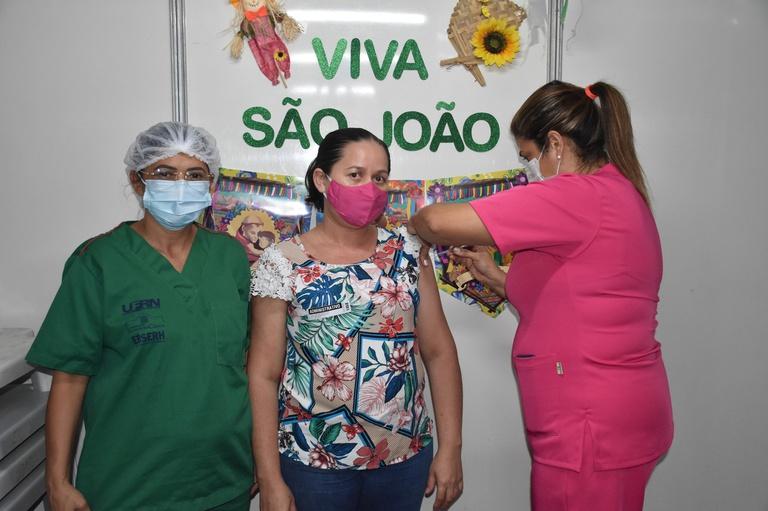 Puérperas da MEJC recebem vacina contra a Covid-19