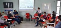 Superintendente do Hucam, professora Rita Checon, faz apresentação aos integrantes do Conselho Consultivo do hospital