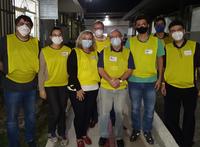 Equipe de médicos e gestores do Hucam que participou da organização do Revalida no hospital