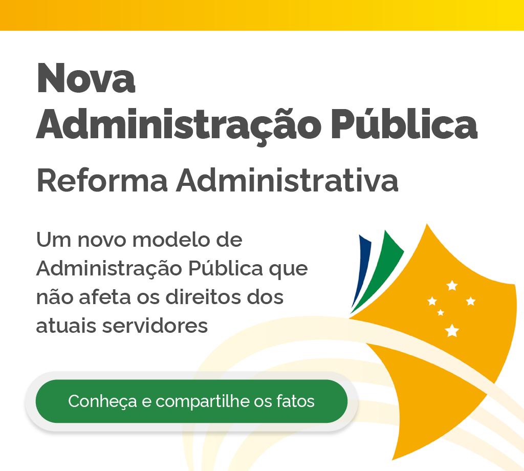 Banner da Reforma Administrativa