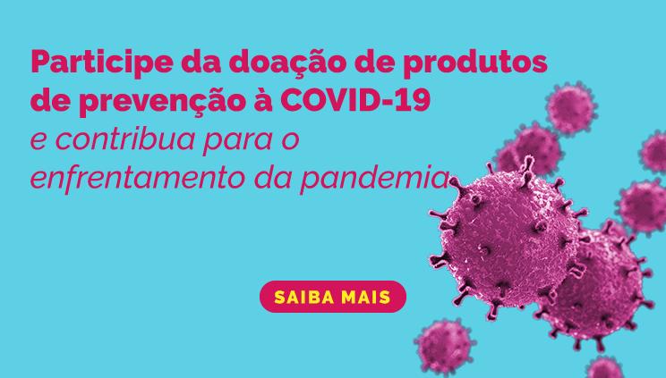 Economia está com edital aberto para receber doações de produtos de prevenção ao coronavírus