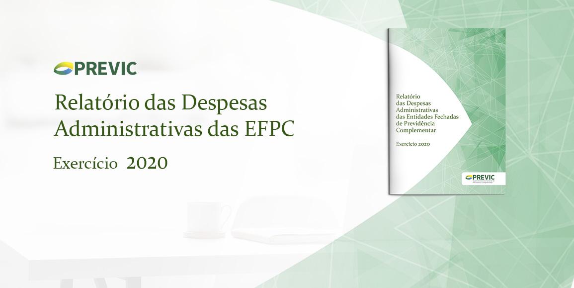 Previc divulga relatório sobre as despesas administrativas da EFPC