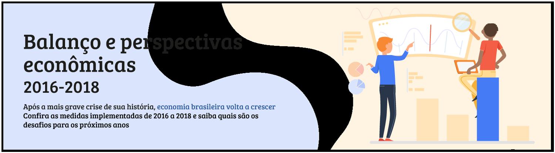 """Imagem de cabeçalho do especial """"Balanço e perspectivas econômicas 2016-2018"""""""