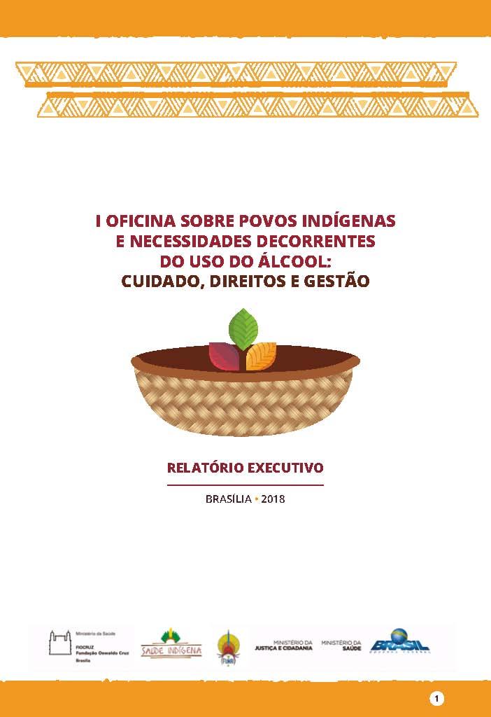 Relatorio Executivo Oficina Povos Indigenas Alcool CAPA