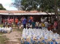 Distribuição de cestas básicas a comunidade indígena do Maranhão (foto: Coordenação Regional do Maranhão)