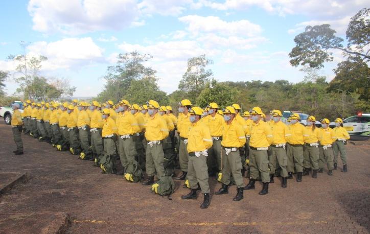 Os 100 brigadistas que integram a brigada atuarão em território nacional