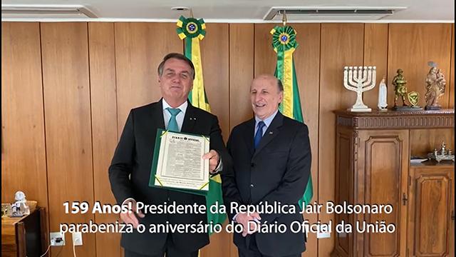 Presidente da República parabeniza aniversário do DOU