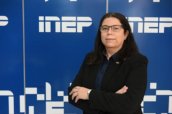 Proporcionar subsídios de excelência para as tomadas de decisão do Inep e do MEC está entre os objetivos de Michele Melo à frente da Diretoria de Estudos Educacionais. Foto: Luís Fortes/MEC