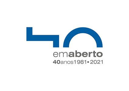 Logo Em Aberto 40 Anos