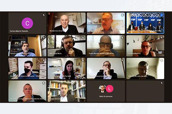Inep participou de reunião do Fórum de Presidentes do Conselho de Reitores das Universidades Brasileiras, nesta sexta-feira (24). Crédito: Reprodução