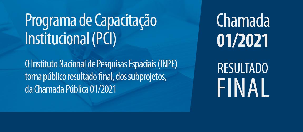Divulgado resultado final de parte das bolsas da Chamada Pública PCI 01/2021