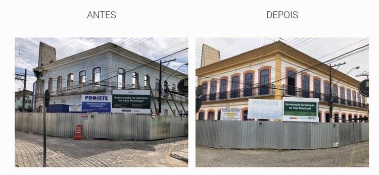 O sobrado que abriga o Paço Municipal foi construído na segunda metade do século XIX. (Fotos: Iphan/SP)
