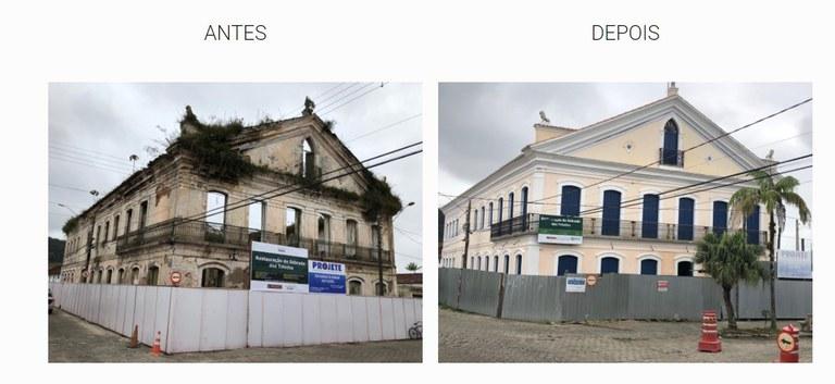 O Sobrado dos Toledos foi construído na primeira metade do século XIX e estava em ruínas antes das intervenções. (Fotos: Iphan/SP)
