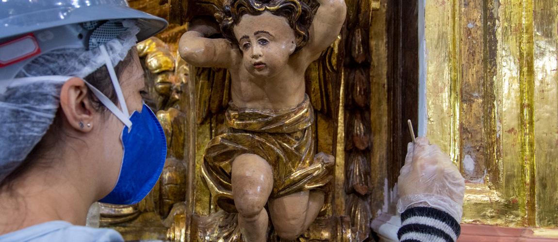 Com o apoio da comunidade, Paróquia Nossa Senhora da Conceição busca restaurar 23 imagens da Matriz