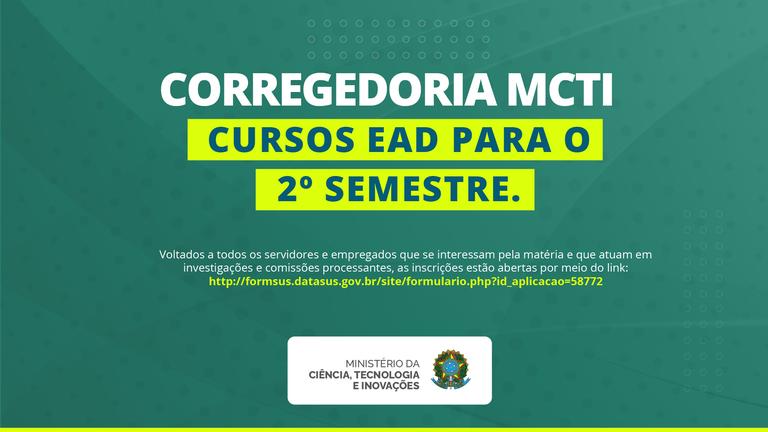 Corregedoria divulga calendário de cursos EAD