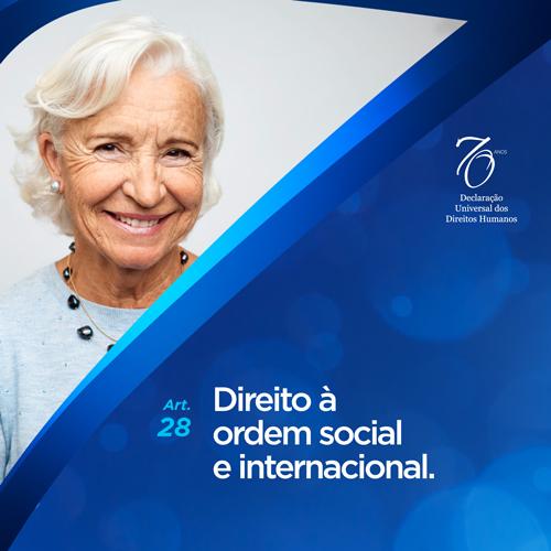 Artigo 28°: Direito à ordem social e internacional