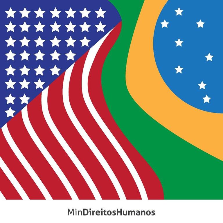 Bandeiras Brasil-EUA