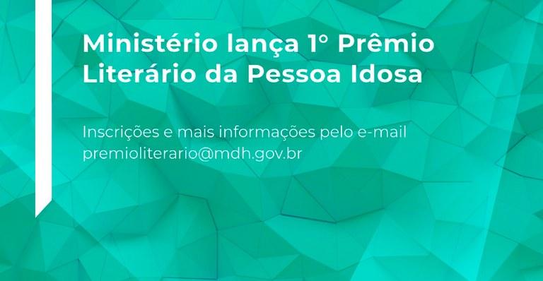 Inscrições para 1º Prêmio Literário da Pessoa Idosa terminam dia 21 de novembro