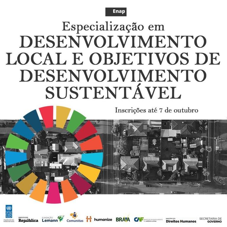 Curso de especialização em Desenvolvimento Local e Objetivos de Desenvolvimento Sustentável está com inscrições abertas