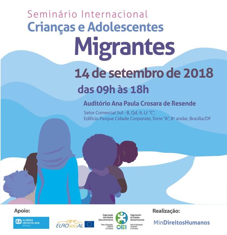 MDH promove debate internacional sobre situação de crianças migrantes