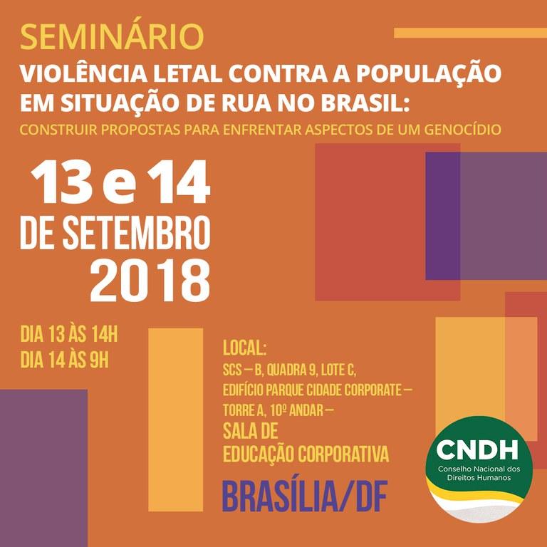 Seminário debaterá ações para combater violência contra população de rua