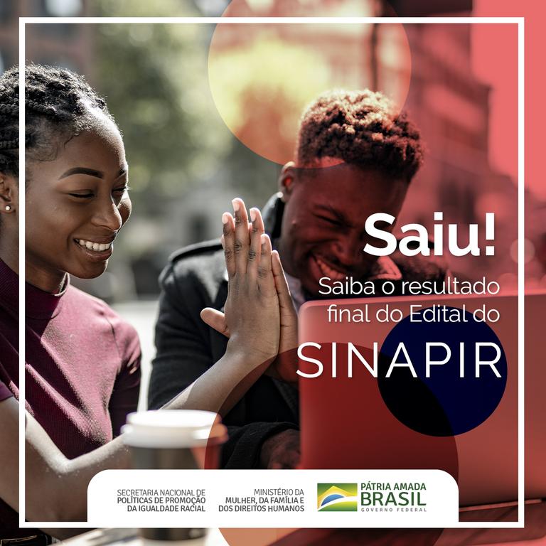 Ministério divulga resultado final do Edital nº 01/2019 - Sinapir
