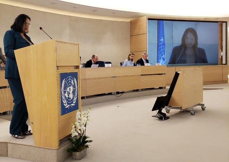 Ministra Damares Alves discursa na 40ª Sessão do Conselho de Direitos Humanos, em Genebra