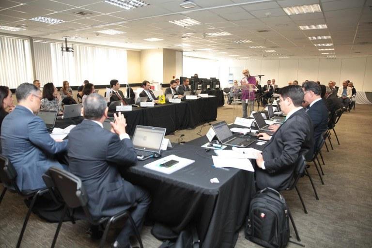 Conselheiros ouvem representante de uma das categorias de anistiados. Foto: Willian Meira/AscomMMFDH