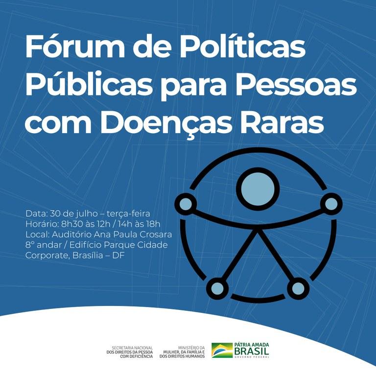 Inscrições abertas: MMDFH sedia fórum sobre doenças raras