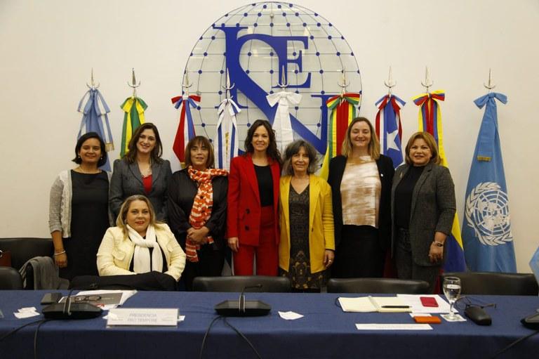 MMFDH discute a situação da mulher em encontro com ministras do Mercosul