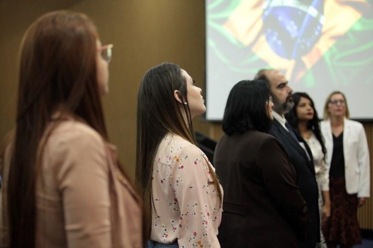 Autoridades participam de evento promovido pela SNJ/MMFDH, em Brasília. (Foto: Willian Meira - MMFDH).